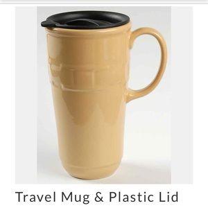 Longaberger woven traditions butternut travel mug